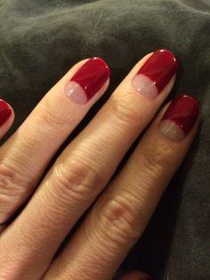 Red, gorgeous. Half moon, ruffian, manicure