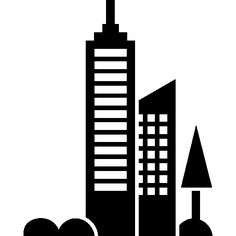City towers view I Free Icon