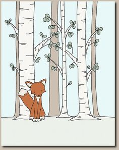 Woodland Nursery Art : A set of prints of woodland animal art, an adorable addition to your nursery. You can CUSTOMIZE these prints to any colors you choose, either from the color chart or a picture or link, just let me know and I can create a custom listing for you! *Be sure