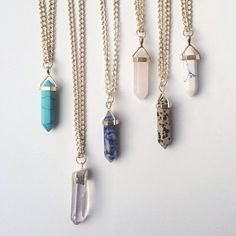 CHOOSE ALL! stone pendants - festival style #TodomodaMexico #Fashion #Style #Trend #Estilo #WeLove #tuesday #picoftheday
