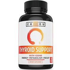 Thyroid Support Complex With Iodine for Energy, Weight Loss, and Reducing Brain Fog - Clean, Natural Formula - Vegetarian, Soy & Gluten Free - 'Feel Like Your Old Self Again' * Continue to the product at the image link.