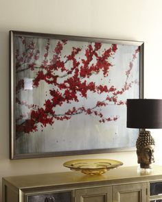 """""""Red Tree"""" Giclee at Horchow."""