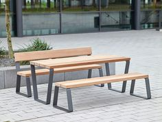 Benches with tables Street furniture Campus levis Westeifel Check it out on Architonic