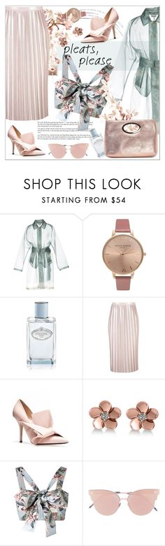"""Trend: Pleats"" by dani-elan ❤ liked on Polyvore featuring Dries Van Noten, Olivia Burton, Prada, Allurez, Zimmermann, So.Ya, Donald J Pliner, Summer, feminine and pastels"