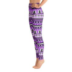 Purple Aztec Yoga Leggings,Capri Yoga Pants, Sport Stretch Leggings, Fitness Workout Yoga Pants Joggers Active, Mommy & Me Leggings Aztec Leggings, Tie Dye Leggings, Purple Leggings, Printed Leggings, Yoga Shorts, Yoga Leggings, Yoga Pants, Sport Pants, Spandex Material