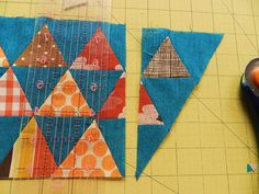 Molly Flanders Makerie: Pyramid Quilt....trimming up the sides