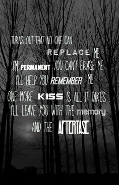Shawn Mendes- Aftertaste.  Beautiful song, one the first songs of his I heard and immediately got addicted to it.