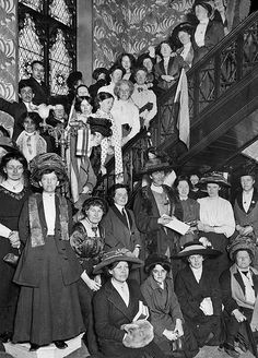 Suffragettes boycotting 1911 census in Manchester UK