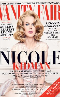 Nicole Kidman was veryyyyy honest and completely open in her interview with Vanity Fair! She is Vanity Fair's cover girl for their December 2013 issue and she totally worked this classy, yet HOT l… V Magazine, Vanity Fair Magazine, Fashion Magazine Cover, Fashion Cover, Beauty Magazine, Magazine Design, People Magazine, Nicole Kidman, Marie Claire