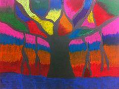 artisan des arts: Blazing Banyan Tree - Step by step