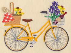 Picnic in the Park Bicycle design (M5831) from www.Emblibrary.com