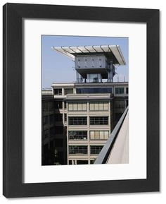 22x18 inch (580x480 mm) frame with high quality RA4 print and mount individually cut to size (other products available) - Italy, Piedmont, Turin, Lingotto, Renzo Piano's design knicknamed 'the Coffin', Pinacoteca Agnelli art collection. - Image supplied by EyeUbiquitous - #MediaStorehouse - made to order, bespoke, produced locally, delivered, guarenteed, artwork, library, imagery, expert, quick, safe, beautiful, choice, quality, photograph. art, framed, wall, UK, England, Scotland, W