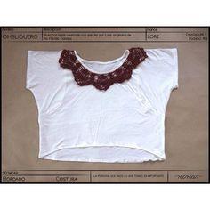 Ombliguero con cuello de #crochet #tejido a mano por Lore, originaria de Río Florido #Oaxaca.  Ya está disponible en nuestra tienda en línea #kichink  www.kichink.com/stores/recrear