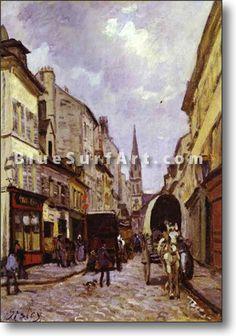 La Grande-Rue, Argenteuil - £124.99 : Canvas Art, Oil Painting Reproduction, Art Commission, Pop Art, Canvas Painting