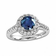 Shop For Precious Bride™ Blue Sapphire and CT. Diamond Frame Engagement Ring in White Gold at Gordon's Jewelers - Precious Bride™ Blue Sapphire and CT. Diamond Frame Engagement Ring in White Gold. 3ct Engagement Ring, Designer Engagement Rings, Engagement Ring Settings, White Gold Sapphire Ring, White Gold Rings, Blue Sapphire, Diamond Cluster Ring, Diamond Wedding Rings, Traditional Engagement Rings