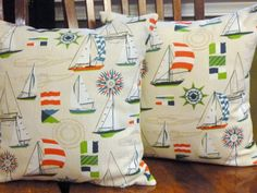 Nautical Decorative Throw Pillow Covers  Two 18 Inch  by berly731, $39.99