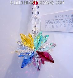 m/w Swarovski Crystal Suncatcher Autism by LilliHeartDesigns, $19.99