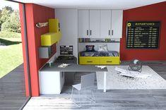 Camerette Made In Italy Ima Mobili Composizione 26 Loft, Furniture, Home Decor, Decoration Home, Room Decor, Lofts, Home Furnishings, Home Interior Design, Attic Rooms