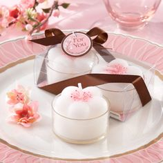 Cherry Blossom Tea Light Candles by Beau-coup