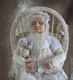 Авторская кукла. Снежное кружево бабушки Зимы – купить в интернет-магазине на Ярмарке Мастеров с доставкой