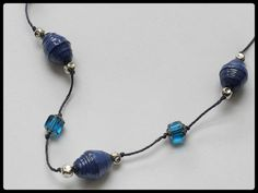 Carta blu perline collana Set collana blu Navy carta