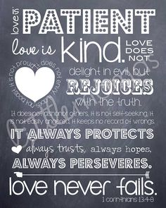 Love is Patient Printable 1 Corinthians 13