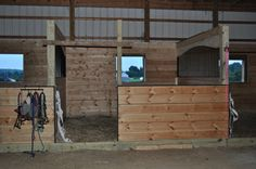 The barn has been gutted and now we& building new custom arched horse stalls. See how our stalls are starting to turn out in this project recap post. Dream Stables, Dream Barn, Horse Stables, Horse Farms, Barn Stalls, Horse Shelter, Horse Ranch, Farms Living, Barn Plans