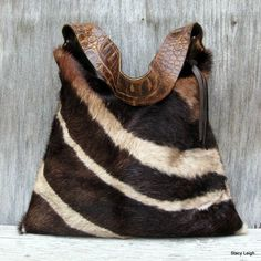 #purse #handbag Hair On Cowhide Purse in Brown Zebra Print - I guess Id carry this, not wear it. Gorgeous.