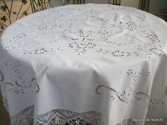 Sold articles > Old table linen, décoration - Passion de Blanc - Broderie ancienne - Antique & Vintage French linen