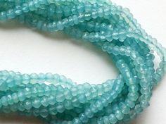 Blue Topaz Beads Blue Topaz Faceted Rondelles by gemsforjewels