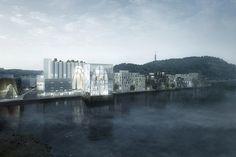 La propuesta de RSAA preserva y modifica un silo histórico en Noruega