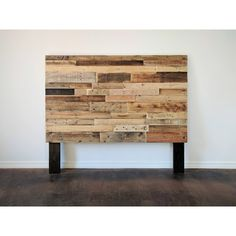 Reclaimed Recycled Pallet Wood Headboard Head Board King Queen Full... (265 CAD) ❤ liked on Polyvore featuring home, furniture, beds, bedroom furniture, beds & headboards, grey, home & living, queen headboard, wooden headboards and california king size bed