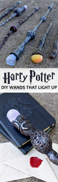 DIY Harry Potter Wands, DIY and Crafts, Fans will love these DIY Harry Potter Wands! They light up making the ultimate wizard prop. Just imagine the spells you'll cast! Harry Potter Wands Diy, Harry Potter Thema, Cumpleaños Harry Potter, Harry Potter Cosplay, Harry Potter Birthday, Harry Potter Parties, Harry Potter Crafts Diy, Harry Potter Halloween Costumes, Harry Potter Themed Party