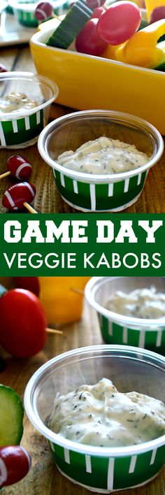 These Game Day Veggie Kabobs are easy to make and perfect for game day! Guaranteed to have everyone eating their veggies! @marzettikitchen #marzetti #ad