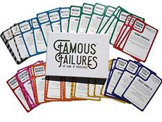 Famous Failures, Fluency Games, Overcoming Obstacles, Learning Games, Card Games, The Creator, Success, Positivity, Personalized Items