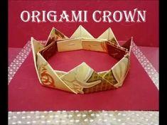 折り紙の王冠 How to make an Origami King Crown Tutorial 종이 접기 왕관 折纸皇冠