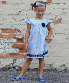 Take a look at this Blue Floral Sophie Dress - Toddler on zulily today!