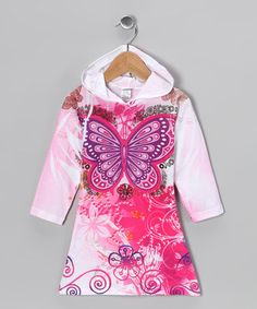 Take a look at this Pink Butterfly Sublimation Hooded Dress - Toddler by Happy Kids for Kids on @zulily today!