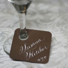 Great idea! Cute, easy to make & your guests will never loose their drink!