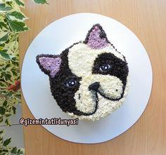 "(@gizemintatlidunyasi): ""Şeker Hamursuz Pasta isteyenlere yeni öneri: Kremalı Pastalar #frenchbulldog #frenchbulldogcake…"""