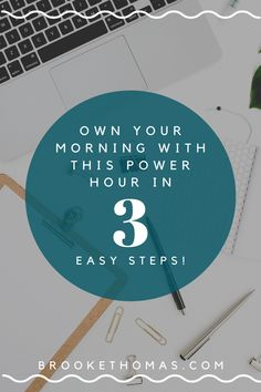 Own your morning with this Power Hour in three easy steps! In this free workbook, Brooke breaks down the magic of the Power Hour and shows you how to make your morning routine work for you too! Starting your day with a strong morning routine sets you up for success in your business, life, and faith. #morningroutine #morningritual #powerhour