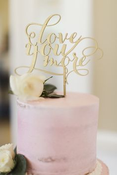 Gold Love You More Wedding Cake Topper | PS Wedding & Events | Haydee Alegria | Juniper and Lavender | Cly by Matthew | Rachelle Tan | http://knot.ly/6490BZrUe