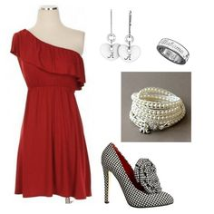 Championship celebration dinner outfit...cause there will be an Alabama championship game!