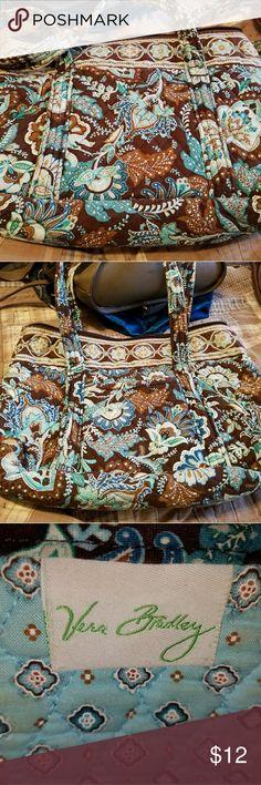 Brown and teal Vera Bradley bag Roomy brown and teal Vera Bradley satchel Vera Bradley Bags Satchels