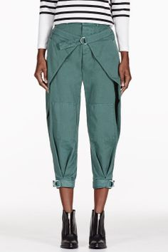 BAND OF OUTSIDERS Green Winged Military Trousers