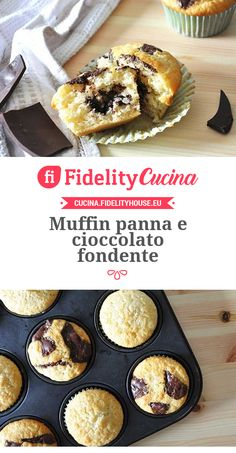 Muffin panna e cioccolato fondente