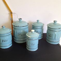 De jolis pots à épices pour décorer votre maison de vacances #Brocanteandco