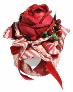 Moyenne boule Trianon parfumée roses et feuilles - Atelier Catherine Masson - Atelier Catherine Masson (France)