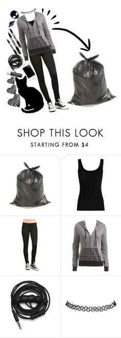 """""""Le Trash (RTD)"""" by kawaiireborn ❤ liked on Polyvore featuring Twenty, Wet Seal, Old Navy, Urbanears, Chapstick and Haus of Dizzy"""