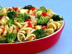Light and healthy summer pasta salad.